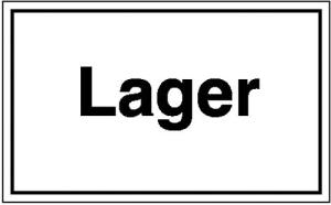 Hinweisschild zur Betriebskennzeichnung, Lager (Material: Folie, selbstklebend (Art.Nr.: 21.5804))