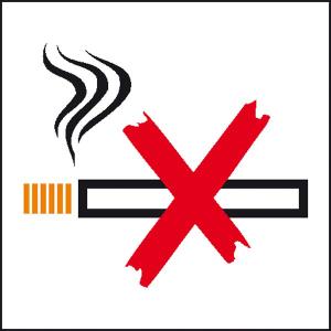 Hinweisschild zur Betriebskennzeichnung Rauchen verboten (Ausführung: Hinweisschild zur Betriebskennzeichnung Rauchen verboten (Art.Nr.: 21.5066))