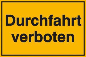 Hinweisschild zur Grundbesitzkennzeichnung, Durchfahrt verboten (Ausführung: Hinweisschild zur Grundbesitzkennzeichnung, Durchfahrt verboten (Art.Nr.: 11.5295))