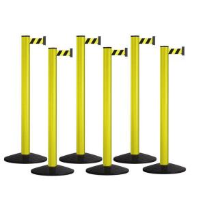 Hochvolt-Absperrung 6er-Set -Beltrac Extend Safety- aus Aluminium, Gurtlänge 6 x 3,7 m, mobil (Ausführung: Hochvolt-Absperrung 6er-Set -Beltrac Extend Safety- aus Aluminium, Gurtlänge 6 x 3,7 m, mobil (Art.Nr.: 41136))
