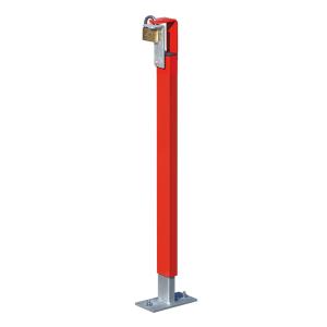 Höhenverstellbare Auflagestütze für Wegesperre -Alpha 125- (Farbe/Montage: ohne Farbe/zum Einbetonieren (Art.Nr.: 13737))