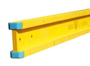 Holzschalungsträger -H20-, Höhe 200 mm, mit Endkappen, verschiedene Längen (Länge: 2100 mm (Art.Nr.: 102021))