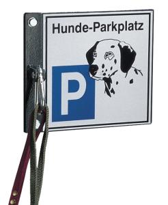 Hundeparkplatz / Hundehalter -Clim-, Stahl, wahlweise zum Einbetonieren, Aufdübeln oder Wandmontage (Farbe/Befestigung:  <b>ohne Farbe</b>/zur Wandmontage<br>Grundplatte 230x200mm (Art.Nr.: 23773))