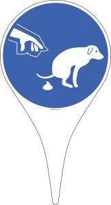 Hundeschild-Erdspieß, Hundekot entfernen (Ausführung: Hundeschild-Erdspieß, Hundekot entfernen (Art.Nr.: 50.g5111))