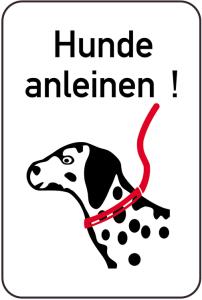 Hundeschild, Hunde anleinen!, 400 x 600 mm (Ausführung: Hundeschild, Hunde anleinen!, 400 x 600 mm (Art.Nr.: 14881))