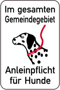 Hundeschild, Im gesamten Gemeindegebiet Anleinpflicht für Hunde, 400 x 600 mm (Ausführung: Hundeschild, Im gesamten Gemeindegebiet Anleinpflicht für Hunde, 400 x 600 mm (Art.Nr.: 14886))
