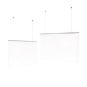 Hygiene-Deckenabhängung -Design- aus Acrylglas, Höhe 700 mm, Breite 980 oder 1200 mm (Breite: 980 mm (Art.Nr.: 39872))
