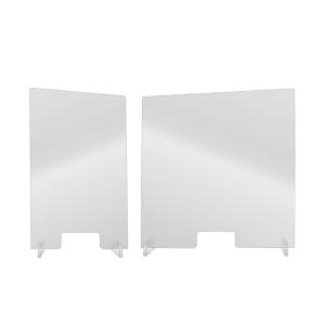 Hygiene-Trennwand -Clear- mit Durchreiche, aus Acrylglas, Höhe 1000 mm, Breite 600 o. 1000 mm (Breite: 600 mm (Art.Nr.: 39869))