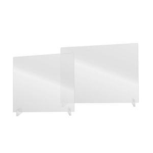 Hygiene-Trennwand -Clear- ohne Durchreiche, aus Acrylglas, Höhe 660 mm, Breite 800 oder 1000 mm (Breite: 800 mm (Art.Nr.: 39935))
