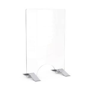Hygiene-Trennwand -Design- mit Durchreiche, aus ESG-Glas, Höhe 900 mm, Breite 600 mm (Ausführung: Hygiene-Trennwand -Design- mit Durchreiche, aus ESG-Glas, Höhe 900 mm, Breite 600 mm (Art.Nr.: 39871))
