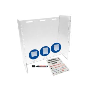 Hygiene-Trennwand -ECO Variable- aus Acrylglas, intelligentes Stecksystem, 3 mögliche Optionen (Ausführung: Hygiene-Trennwand -ECO Variable- aus Acrylglas, intelligentes Stecksystem, 3 mögliche Optionen (Art.Nr.: 90.5579))