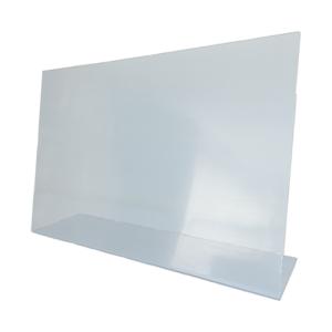 Hygiene-Trennwand -Fresh-, aus Acrylglas, Höhe 480 mm, Breite 750 mm, mit oder ohne Durchreiche (Variante: ohne Durchreiche (Art.Nr.: 40532))