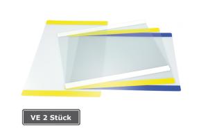 Info-Tasche, VE 2 Stück, selbsthaftend, DIN A4 hoch oder quer (Format/Farbe Rand: A4 hoch/  <b>gelb</b> (Art.Nr.: 37028))