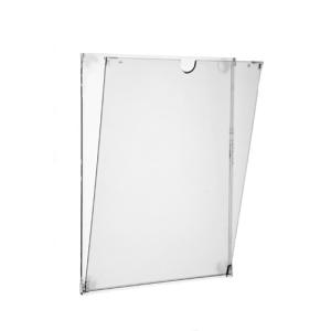 Infotasche -FLAP- aus Polycarbonat, DIN A3, DIN A4 und DIN A5, Hoch- oder Querformat (Maße (LxB)/Format: 215 x 160 mm<br> <b>DIN A5 Hochformat</b> (Art.Nr.: 25928))