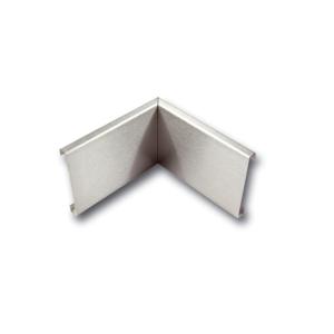 Inneneckstück für Wandschutzprofile aus Edelstahl (geschliffen), Höhe 150 mm (Ausführung: Inneneckstück für Wandschutzprofile aus Edelstahl (geschliffen), Höhe 150 mm (Art.Nr.: 34636))