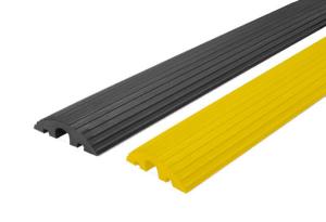 Kabelbrücke Typ 220-45, 3 Kabelkanäle - 2x 20 mm u. 1x 45 mm, Breite 1200 mm, klein und flexibel (Farbe: schwarz (Art.Nr.: 14104))