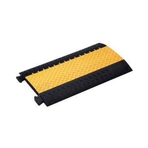 Kabelbrücke Typ 334-180 - 4 Kanäle, 3 à 34 mm + 1 á 80 mm, Breite 890 mm (Modell/Maße(BxÜberfahrlänge)/Gewicht: Mittelstück mit gelbem Deckel/890x542mm/ca. 11,5 kg (Art.Nr.: 20419))