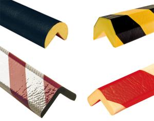 Kantenschutz -Protect- Knuffi® aus PU, Länge 1000 mm, verschiedene Profile, selbstklebend (Modell/Farbe:  <b>Trapez 40/36mm</b>, gelb/schwarz (Art.Nr.: dc11010))
