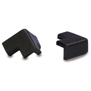 Kantenschutz-Zubehör (Außenecken) für Modelle -Protect- Knuffi®, aus PU-Schaum, selbstklebend (Modell:  <b>für Kreis 40/25</b><br>zweischenkelig/schwarz (Art.Nr.: dc10810))