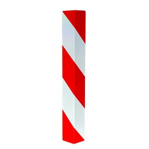 Kantenschutzwinkel aus Aluminiumblech, zum Andübeln, rot / weiß, rechts- o. linksweisend (Modell: rechtsweisend (Art.Nr.: 4317rb))
