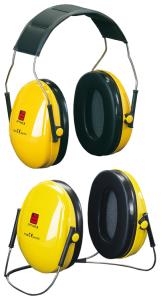 Kapselgehörschützer -Deaf I-, 27 dB SNR, wahlweise als Kopfbügel oder Nackenbügel (Modell: Kopfbügel, faltbar (Art.Nr.: 32051))