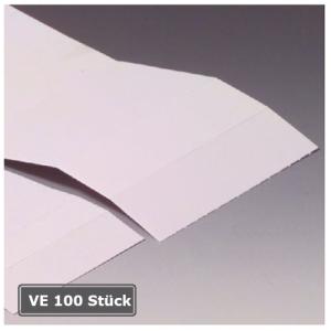 Kartonstreifen für Permaflex C-Profile, VE 100 Stück (Maße/Verpackungseinheit:  <b>60 x 10 mm</b>/VE 100 Stk. (Art.Nr.: 90.3087))