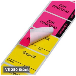 Kennzeichnungsetiketten auf Rolle, 250 Stück, zweiteilig (Aufschrift oben/unten: Zur Reparatur / Repariert (Art.Nr.: 32.3518-02))