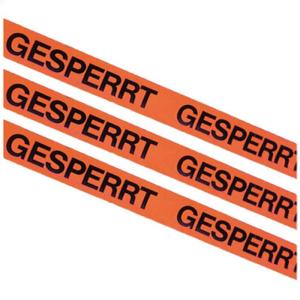 Kennzeichnungsklebeband, Breite 50 mm, Länge 66 m, VPE 6 - 36 Rollen (Aufdruck/Menge: GESPERRT / VPE 6 Rollen (Art.Nr.: 12965))
