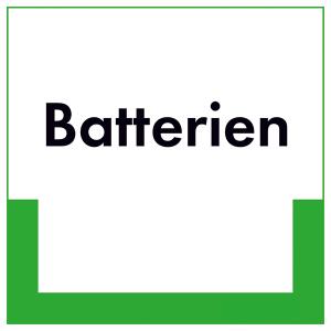 Kennzeichnungsschild Batterien (Maße (BxH): 200 x 200 mm (Art.Nr.: 43.6621))