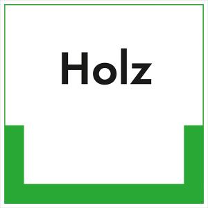 Kennzeichnungsschild Holz (Maße (BxH): 200 x 200 mm (Art.Nr.: 43.6702))