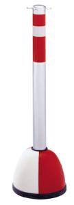 Kettenpfosten -Steel Line- aus Stahl, Höhe 900 mm, Ø 64 mm, mit Betonpilz -Champ- und Ösen (Ausführung: Kettenpfosten -Steel Line- aus Stahl, Höhe 900 mm, Ø 64 mm, mit Betonpilz -Champ- und Ösen (Art.Nr.: 14210))