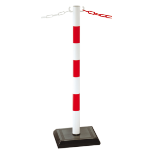 Kettenpfosten aus Kunststoff Ø 48 mm, mobil (Farbe/Gewicht: gelb/schwarz, einfach (0,8 kg) (Art.Nr.: 13544))