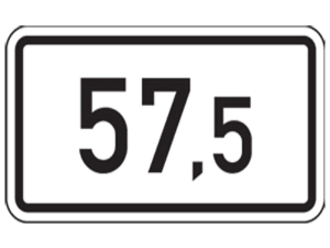 Kilometertafel, einseitig, 220 x 400 mm (Folie/Form: RA1/Flachform 2mm (Art.Nr.: 00km012821))