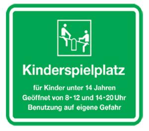 Kinder- und Spielplatzschild -Kinderspielplatz-, 450 x 600 mm (Form: Flachform (Art.Nr.: kss40007221))