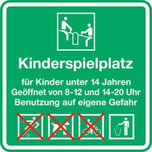 Kinder- und Spielplatzschild -Kinderspielplatz-, 600 x 600 mm (Form: 2 mm Flachform (Art.Nr.: kss30002521))