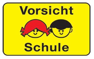 Kinder- und Spielplatzschild -Vorsicht Schule- (Form/Maße: Flachform/450x600mm (Art.Nr.: kks60007221))