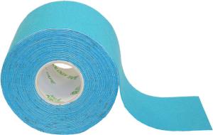 Kinesiology Tape aus Baumwolle, Länge 5 m, verschiedenen Farben (Farbe:  <b>blau</b> (Art.Nr.: 33260))