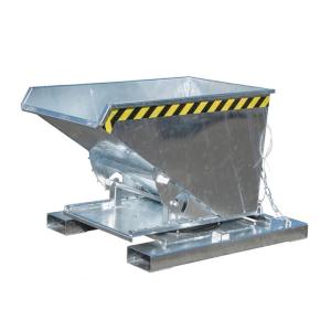 Kippbehälter -Typ 3S-, Abrollsystem mit manueller Entriegelung, mit Einfahrtaschen