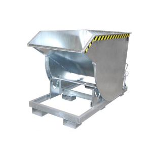 Kippbehälter -Typ BKM-, Abrollsystem mit manueller Entriegelung, mit Einfahrtaschen