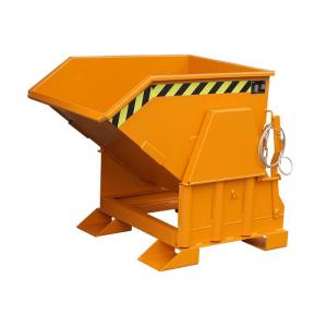 Kippbehälter -Typ BK-, Abrollsystem mit manueller Entriegelung, mit Einfahrtaschen