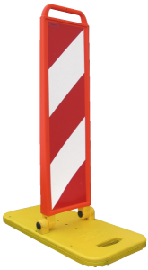 Klappbake KSN-407 / KSN-408, BASt-geprüft nach TL-Leitbaken, Höhe 970 mm (Richtungsangabe: rechtsweisend, einseitig (Art.Nr.: 18399))
