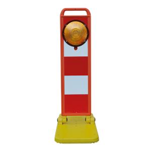 Klappbake -LED-Flash-, BASt geprüft nach TL-Warnleuchten, Höhe 970 mm (Modell: LED-Blitz (Art.Nr.: 37835))