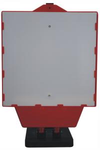 Klappschild -Puck- aus Kunststoff, Höhe ca. 900 mm (Ausführung: Klappschild -Puck- aus Kunststoff, Höhe ca. 900 mm (Art.Nr.: 32974))