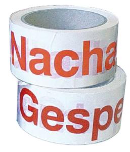 Klebebänder für Qualitätskontrolle auf Rolle, 66 m (Aufdruck/Schriftfarbe: Nacharbeit / orange (Art.Nr.: 35.3773))