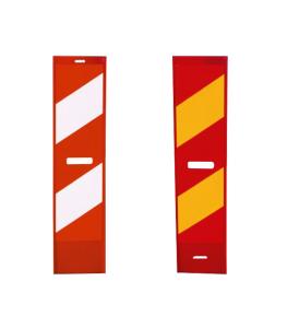 Klemmbake für Schranken- u. Bauzaun, aus Kunststoff, doppelseitig, verschiedene Farben und Folien (Farbe/Folie: rot/weiß<br>Typ 1 (RA1) (Art.Nr.: 36050))