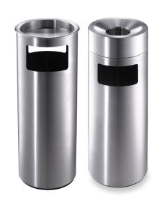 Kombiascher / Abfallbehälter -CREW- Volumen 17 Liter, mobil, Boden- oder Wandbefestigung
