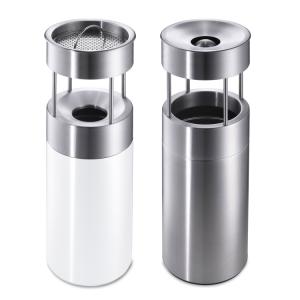 Kombiascher / Abfallbehälter -CREW- Volumen 21 Liter, mobil, Boden- oder Wandbefestigung