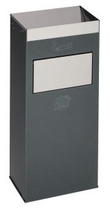 Kombiascher -Cubo Daria- 21 Liter aus Stahl (Farbe: weiß (Art.Nr.: 16247))