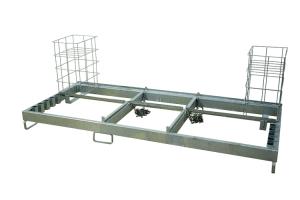 Kombipalette für Baken, Fußplatten und Absturzsicherungen (Ausführung: Kombipalette für Baken, Fußplatten und Absturzsicherungen (Art.Nr.: 34844))