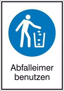 Kombischild, Abfalleimer benutzen (Ausführung: Kombischild, Abfalleimer benutzen (Art.Nr.: 43.a7490))